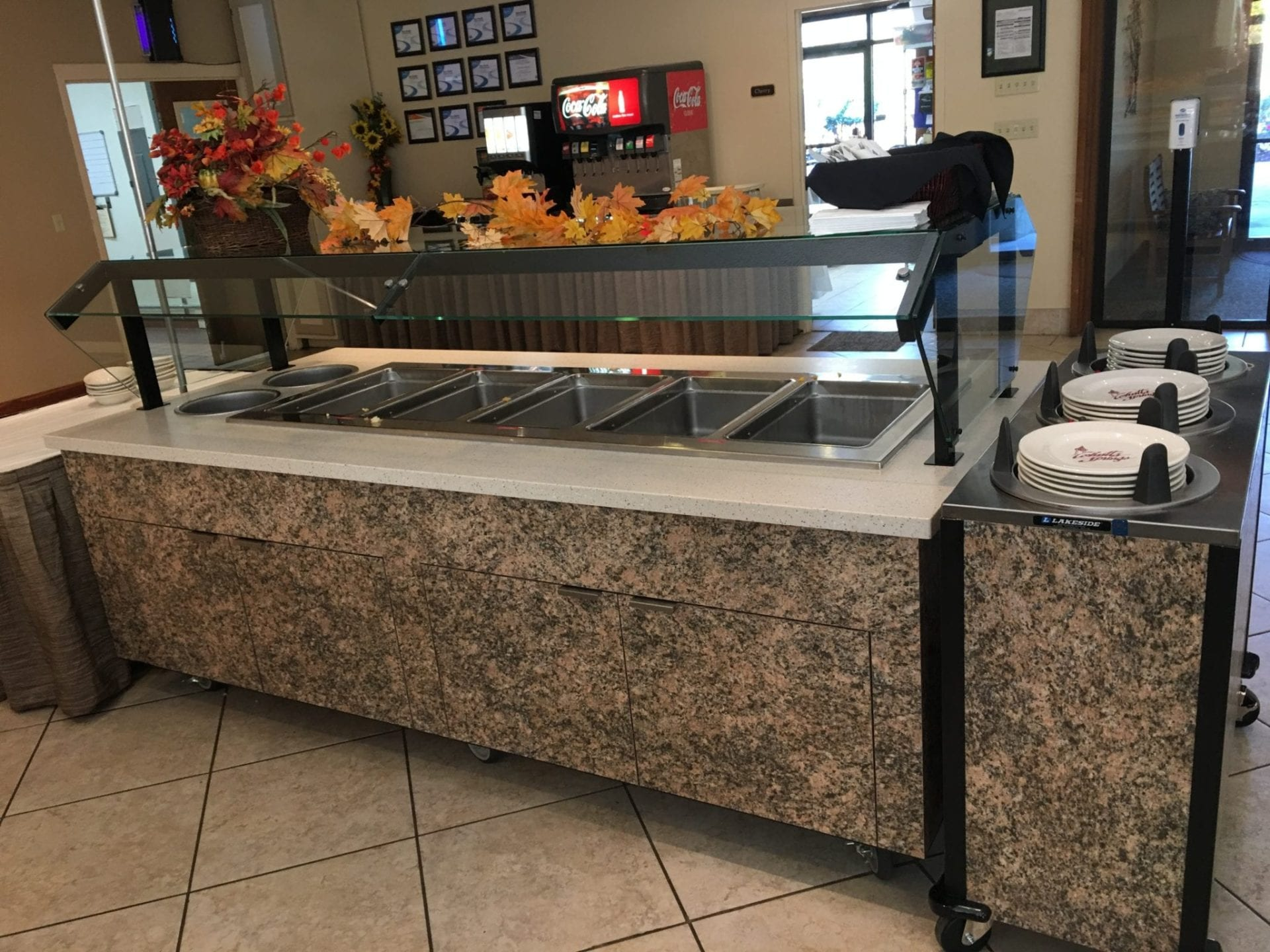 hot food station, counters, hot counter