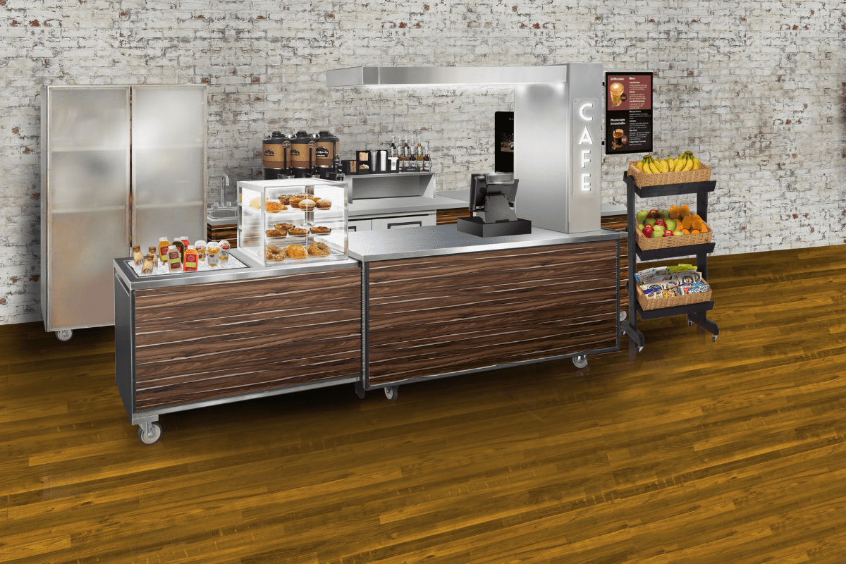 Retail XTension Coffee Station Setup Rendering