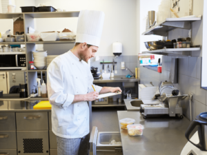 Chef Taking Food Inventory